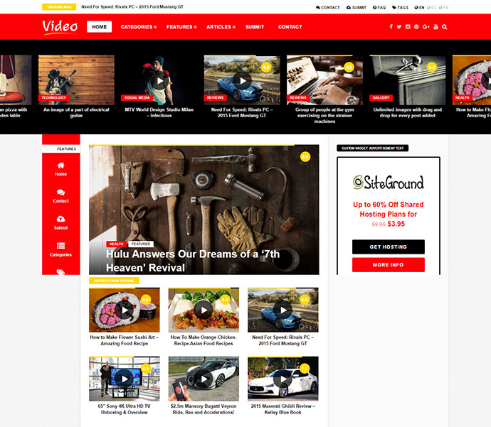 20 Best Video Website Wordpress Themes | Web & Graphic Design | Bashooka