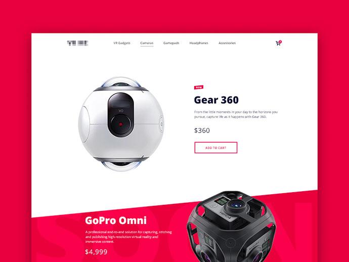 VR Retailer Website