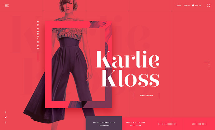 Fashion Butique - homepage