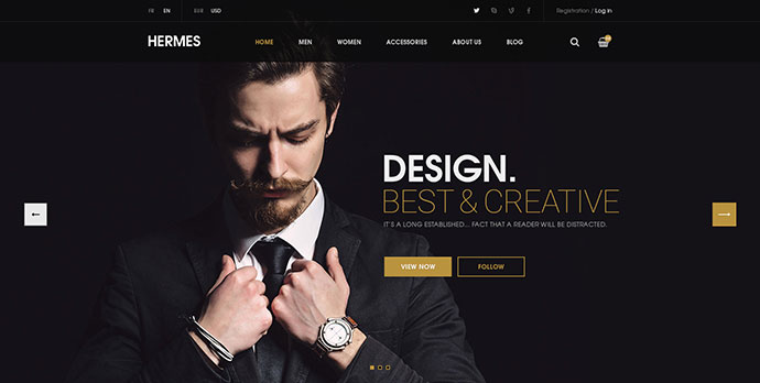 Hermes - eCommerce PSD Template