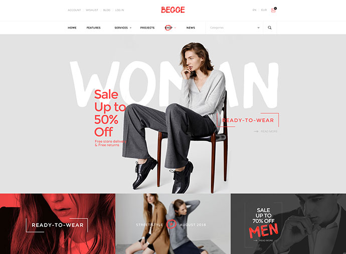 Begge - Modern Fashion Shop PSD Template