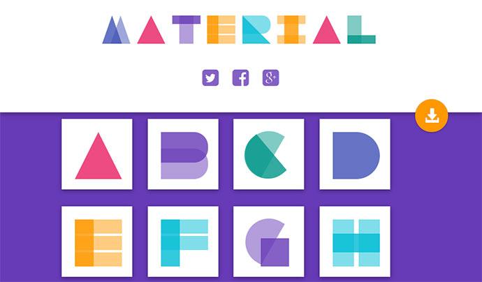 Material Design Alphabets in CSS