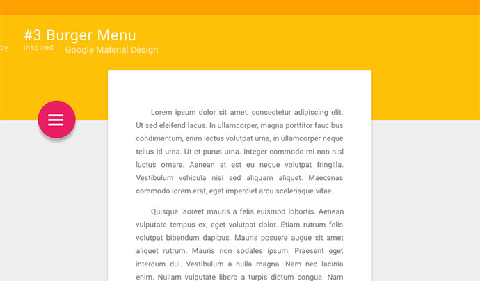 #3 Burger Menu + Material Design Layout