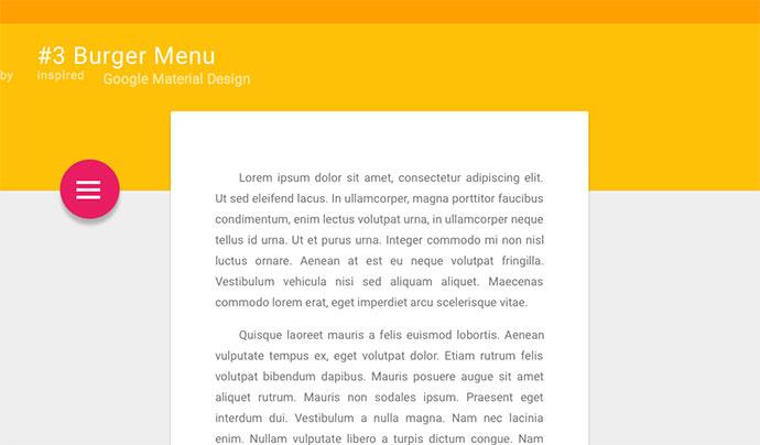 #3 Burger Menu + Material Design Layout