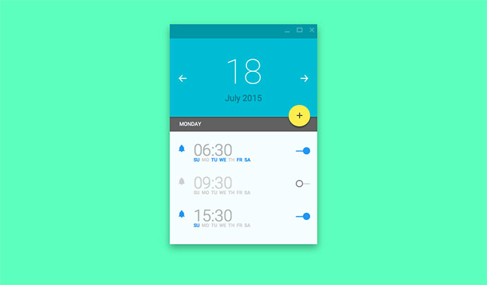 Alarm Material UI