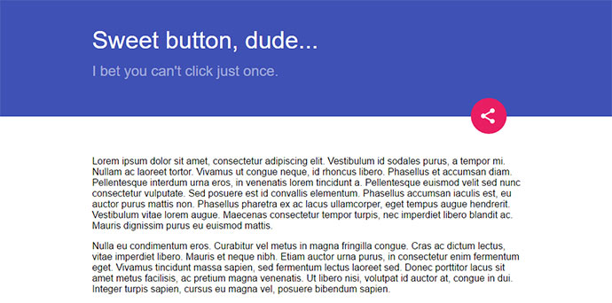 Material multi button pure-CSS