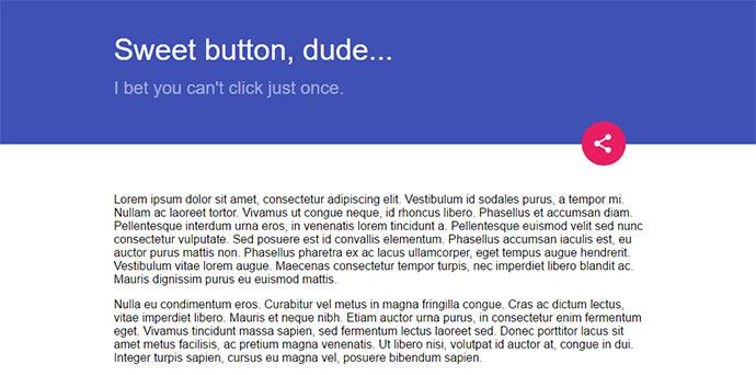 Material multi button pure-CSS