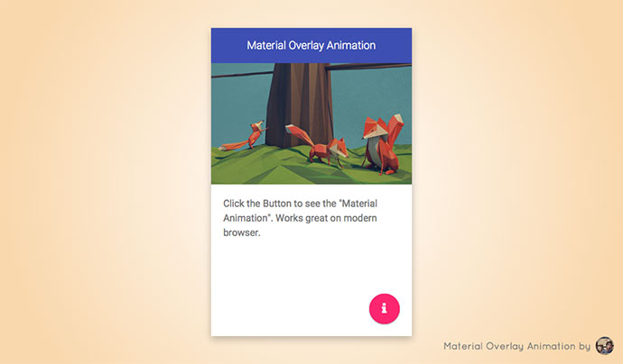 Material Overlay Animation