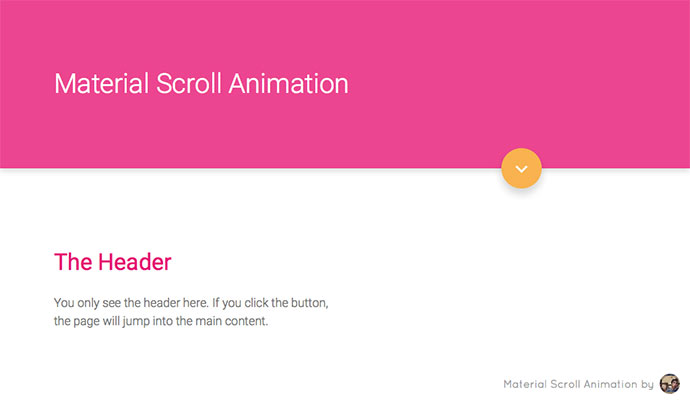 Material Scroll Animation
