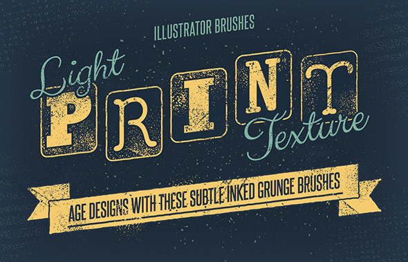 Light Print Texture Brushes