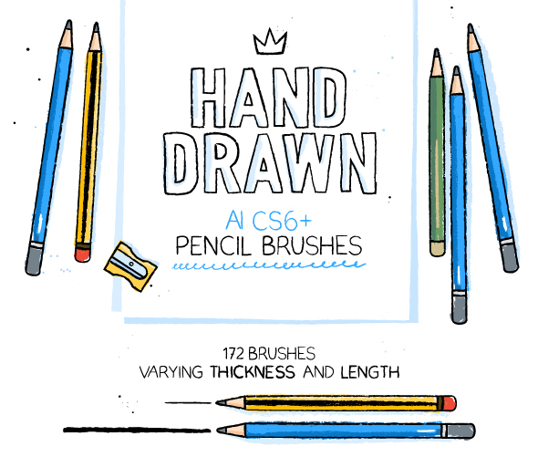 172 Illustrator Pencil Brushes