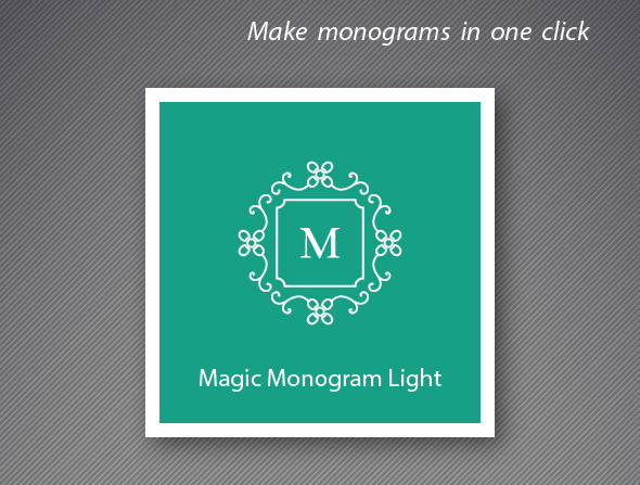Magic Monogram Light Illustrator Script