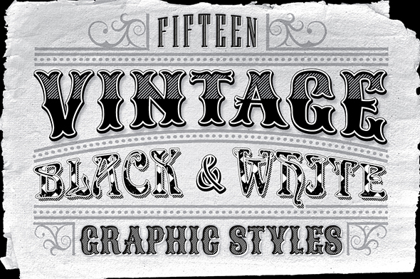 Vintage Black and White Styles