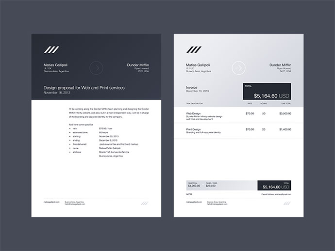 Free Sample Service Invoice For Web Design Businesses