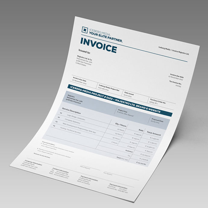 Elite Invoice Design  Design Invoices