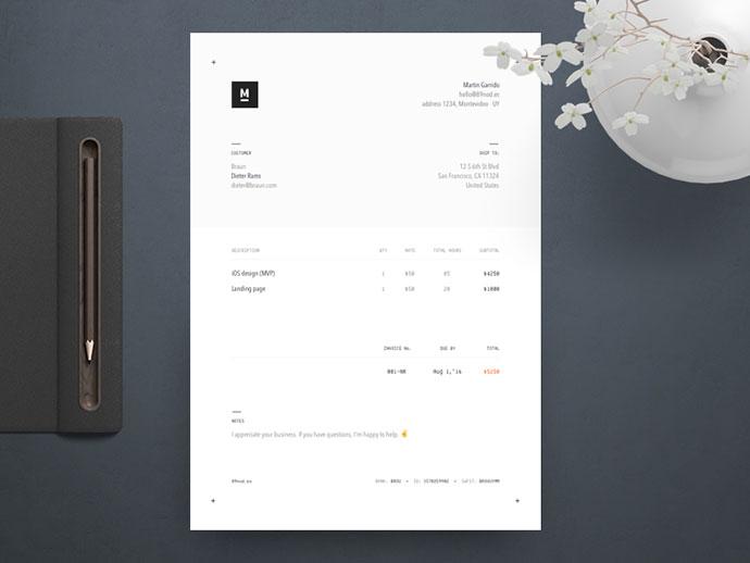 Invoice Design 2016
