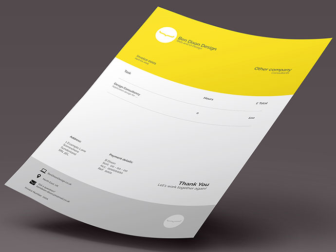 35 Striking Invoice Designs | Web & Graphic Design | Bashooka