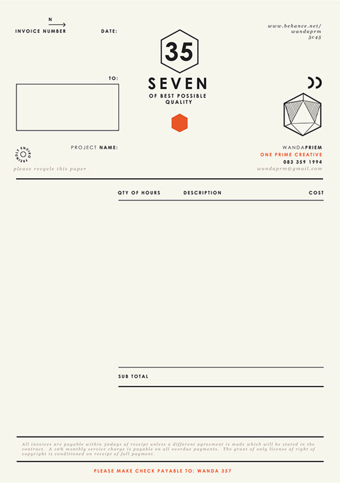 35 striking invoice designs
