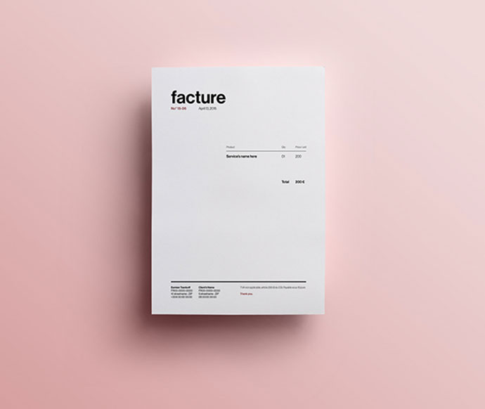 Invoice Template - Self Branding
