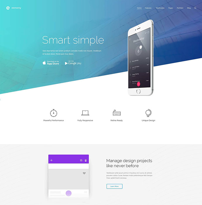 Elementy – Multipurpose PSD Template