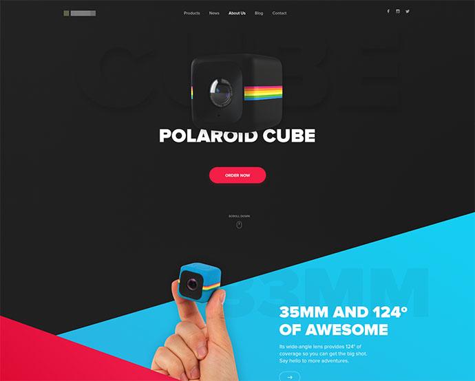 Polaroid Cube  Landing Page
