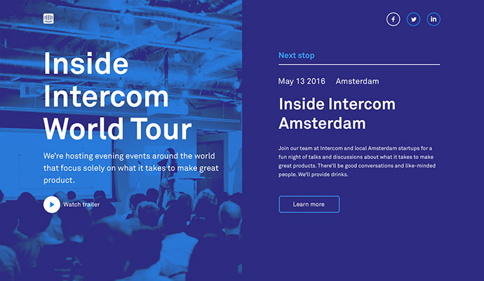 Inside Intercom World Tour