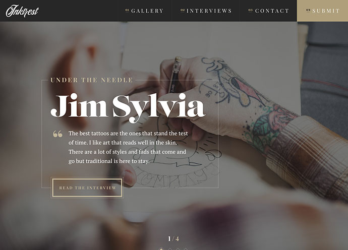 Inktrest Landing Page