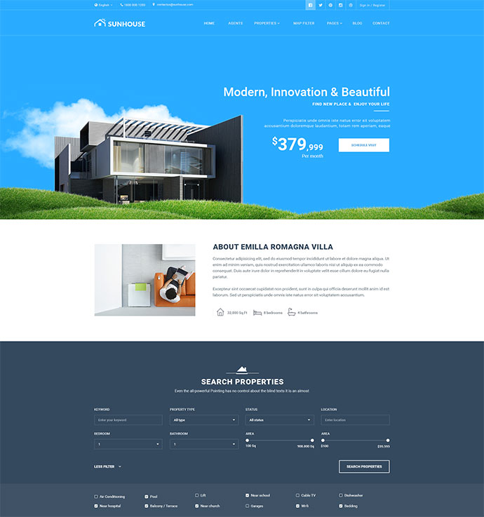 Multiconcept Real Estate PSD Template