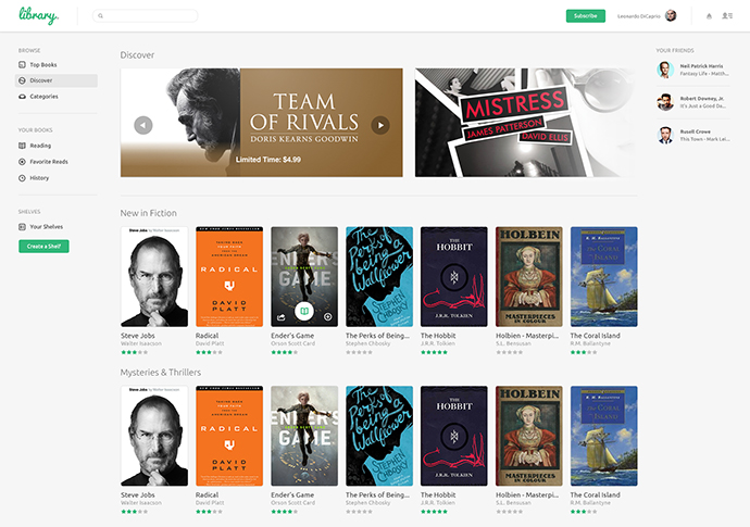 Library eBooks UI