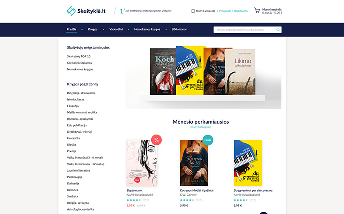40 fantastic online book store web designs bashooka for Design on line outlet