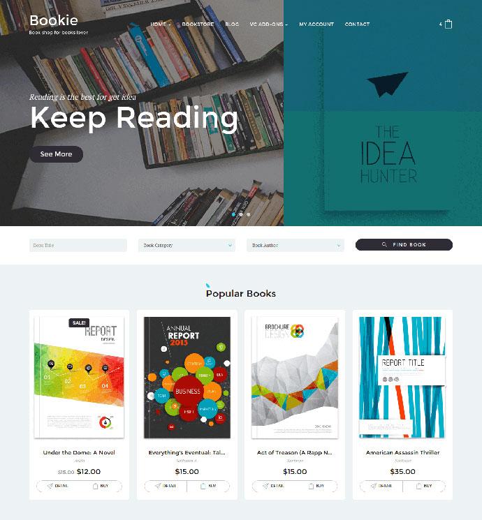 Bookie WordPress Theme for Books Store