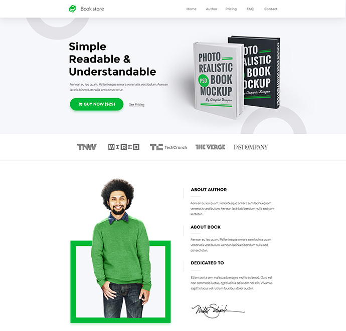 Book Landing Page (concept)