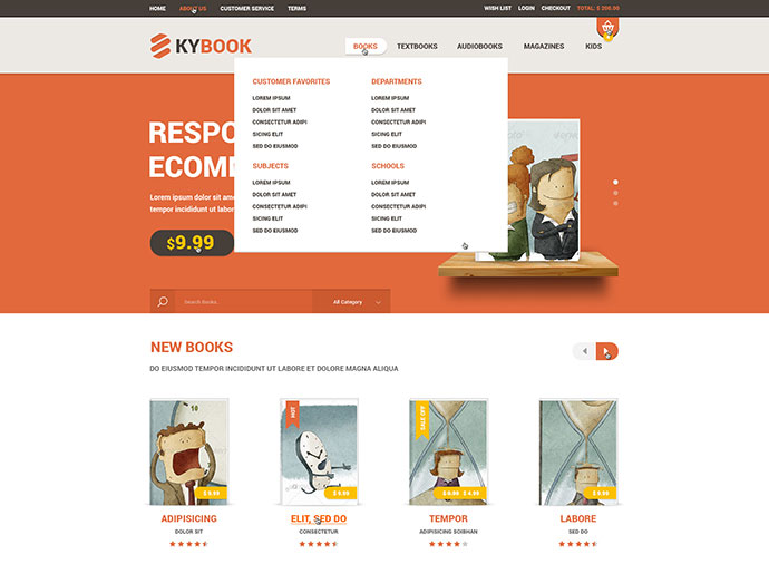 KyBook Responsive eCommerce PSD Template