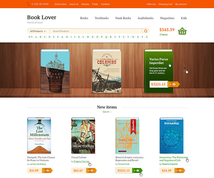 40 fantastic online book store web designs web graphic design