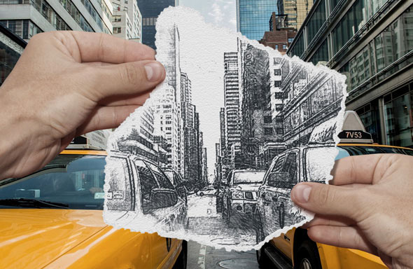 Pencil Sketch vs Camera Photo Effect Photoshop Action