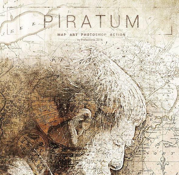 Piratum - Map Art Photoshop Action