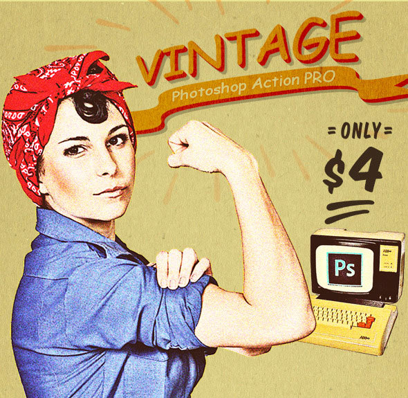 Vintage Photoshop Action PRO Effects