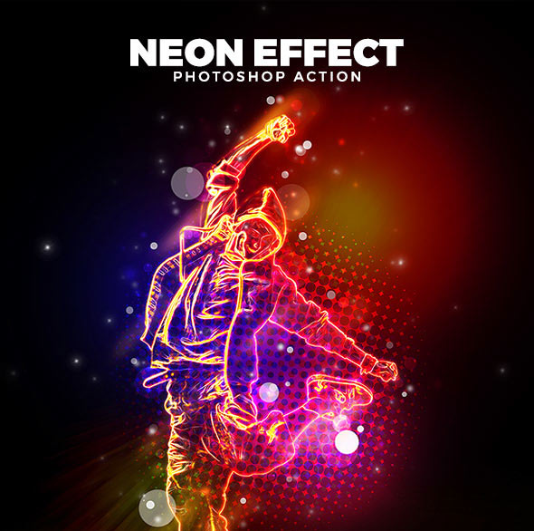 Neon Effect Action