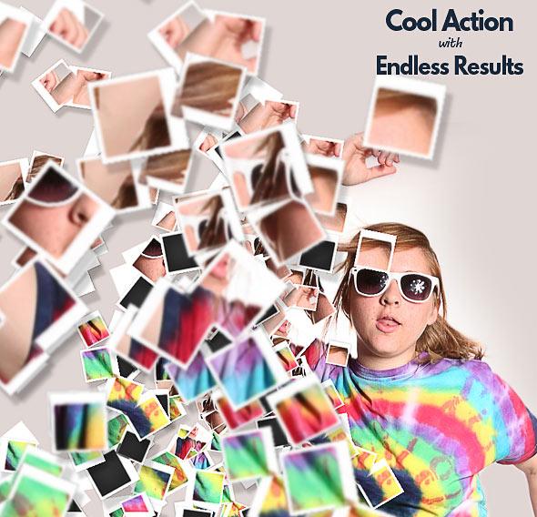 Polaroid Dispersion Photoshop Action