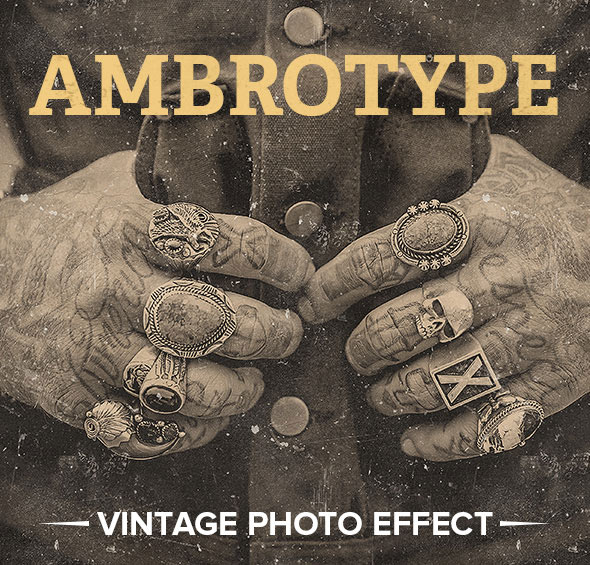 Ambrotype Vintage Photo Effect Photoshop Action