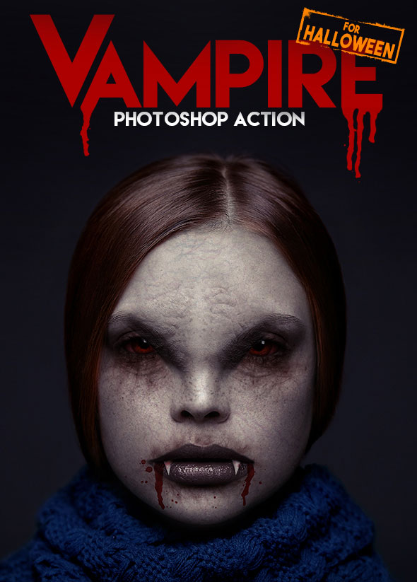 Vampire Photoshop Action