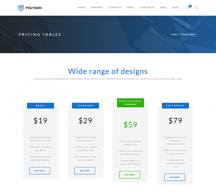 Polygon - A Powerful Multipurpose WP Theme