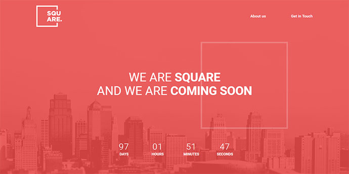 Square - Creative Coming Soon Template v1.1