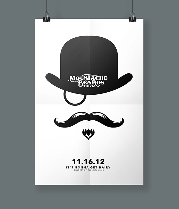 Movember - Moustache Versus Beard Event Posters