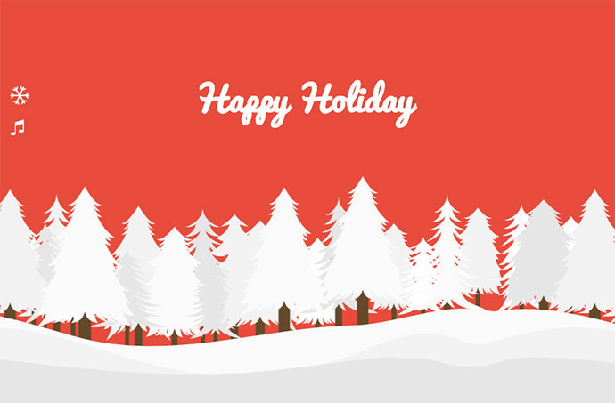 Parallax Happy Holiday
