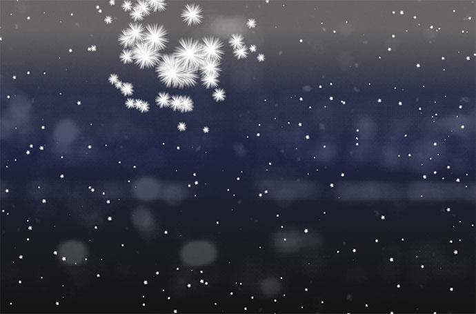 particles snow