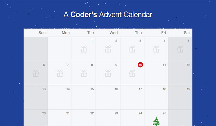 A Coder`s Advent Calendar