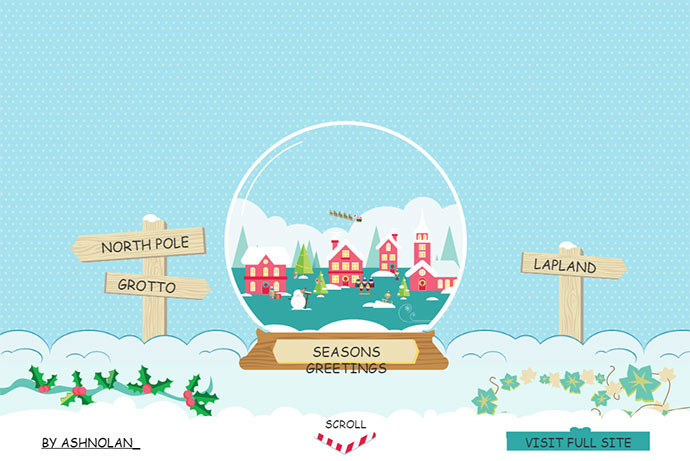 Interactive Christmas SVG Illustration