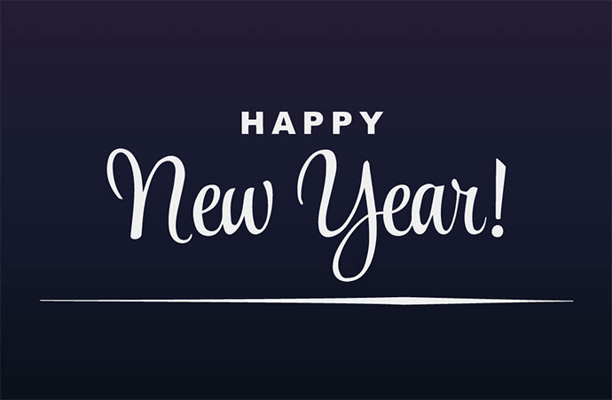 Happy New Year! -- CSS Only