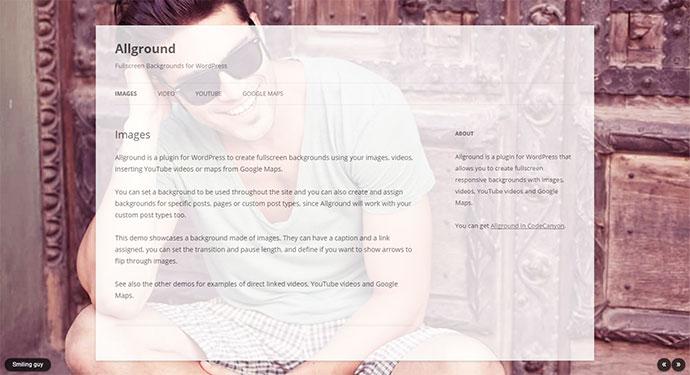 Allground - WordPress Fullscreen Background